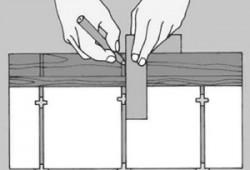 Изготовление шаблона для измерения плитки