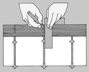 шаблон для измерения плитки