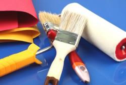 Покраска оштукатуренных стен и потолков